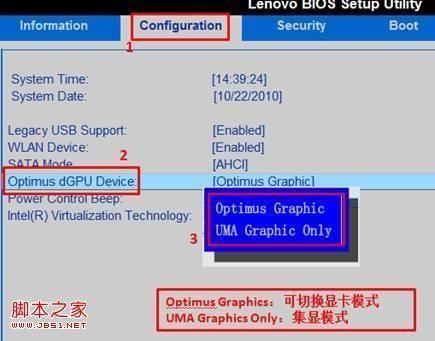 在BIOS Setup里面设置双显卡机型的双显卡模式常见方式介绍